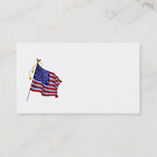 vintage us flag business cards templates zazzle