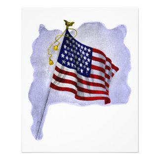 Vintage US Flag in Patriotic Colors Flyer