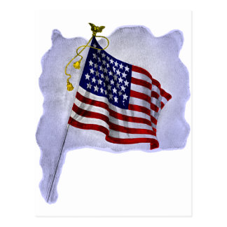 Vintage US Flag in Patriotic Colors Postcard