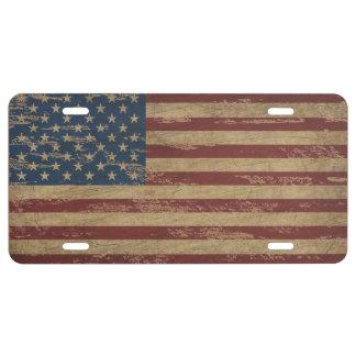 Vintage US Flag License Plate