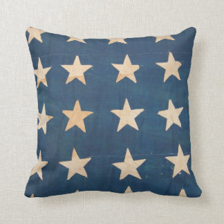 Vintage US Flag Stars Pillow
