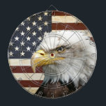 "Vintage US USA Flag with American Eagle Dartboard<br><div class=""desc"">Vintage US flag with american eagle design for a perfect independence day. 