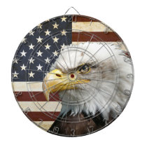 Vintage US USA Flag with American Eagle Dartboard