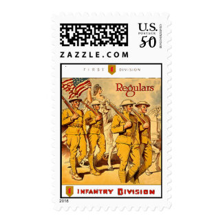 Vintage US WWI 1st Infantry Div. Postage Stamps