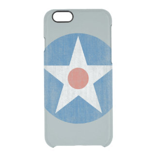 Vintage USA Aircraft Star Logo Clear iPhone case Uncommon Clearly™ Deflector iPhone 6 Case