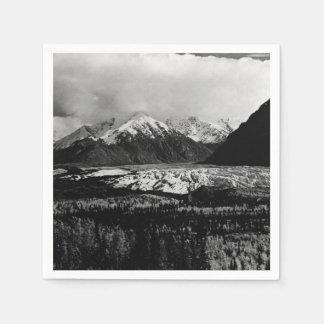 Vintage USA Alaska Matanuska glacier 1970 Napkin