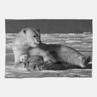 Vintage USA Alaska mother polar bear 1970 Towel