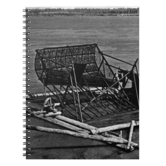 Vintage USA Alaska Yukon fish trap 1970 Notebook