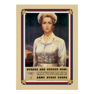 Vintage USA Army Nurse Corps Posters