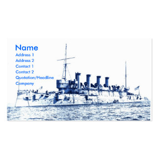 Vintage USA Battleship Double-Sided Standard Business Cards (Pack Of 100)