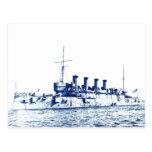 Vintage USA Battleship Postcard