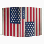 Vintage USA Flag 3 Ring Binder