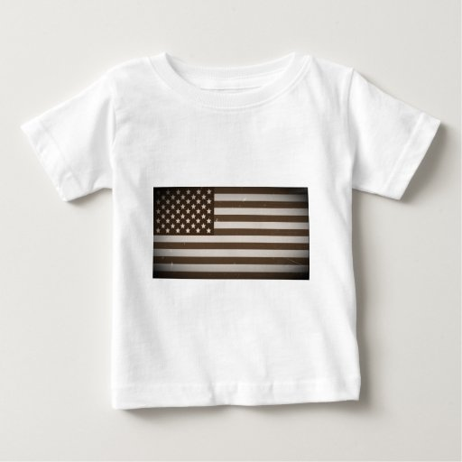 Vintage USA Flag Baby T-Shirt