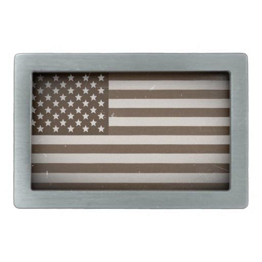 Vintage USA Flag Belt Buckles