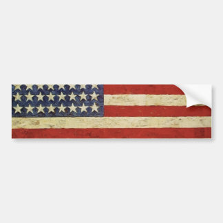 Vintage USA FLAG Bumper Sticker