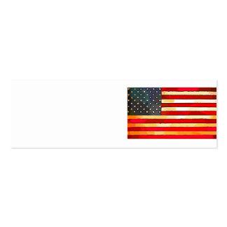 Vintage USA Flag Business Card Template