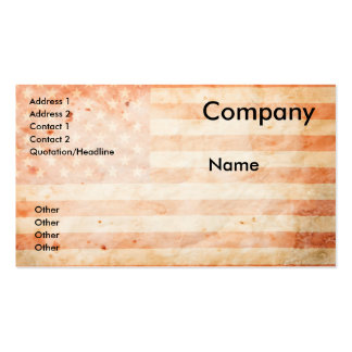 Vintage USA flag Business Card Template
