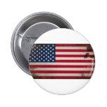 Vintage USA Flag Button