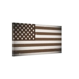 Vintage USA Flag Gallery Wrap Canvas