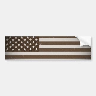 Vintage USA Flag Car Bumper Sticker