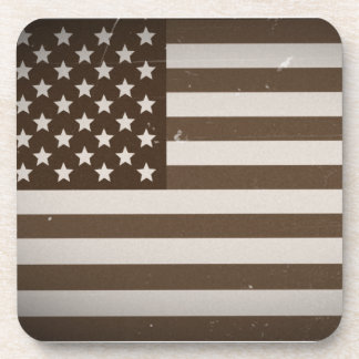Vintage USA Flag Drink Coaster