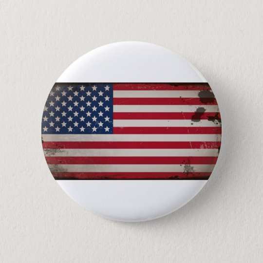 Vintage USA Flag Pinback Button