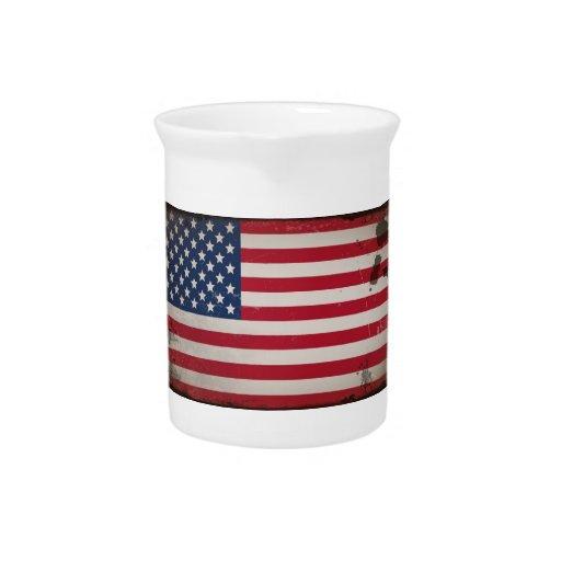 Vintage USA Flag Pitcher