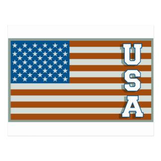 Vintage USA Flag Postcard