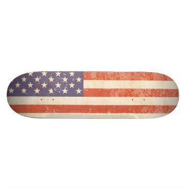 USA Themed Vintage USA Flag - Skateboard
