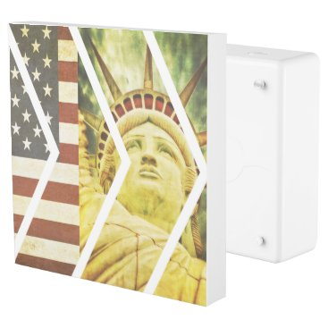 USA Themed Vintage USA Flag Statue of Liberty Chevrons Outlet Cover