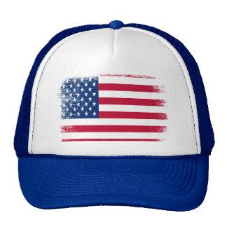 Vintage USA Flag Trucker Hat design