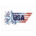Vintage USA Flag with Star – 4th of July Postcards