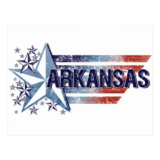 Vintage USA Flag with Star – Arkansas Postcard