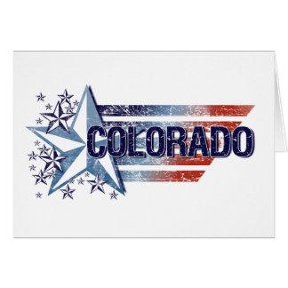Vintage USA Flag with Star – Colorado Card