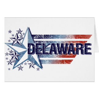 Vintage USA Flag with Star – Delaware Card