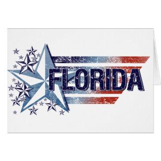 Vintage USA Flag with Star – Florida Card