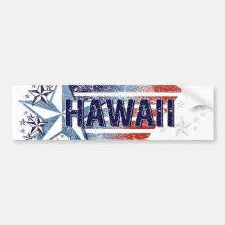 Vintage USA Flag with Star – Hawaii Bumper Sticker