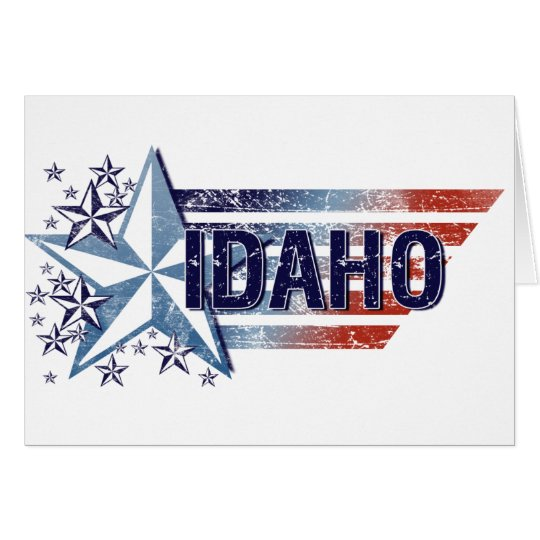Vintage USA Flag with Star – Idaho Card