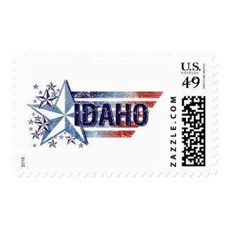 Vintage USA Flag with Star – Idaho Postage Stamp