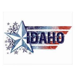Vintage USA Flag with Star – Idaho Postcard