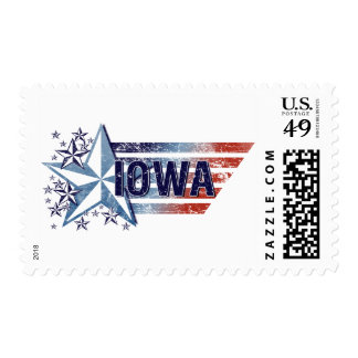 Vintage USA Flag with Star – Iowa Postage Stamps
