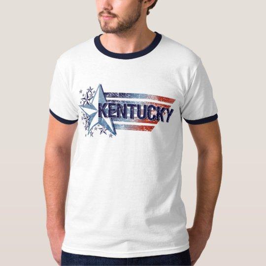Vintage USA Flag with Star – Kentucky T-Shirt