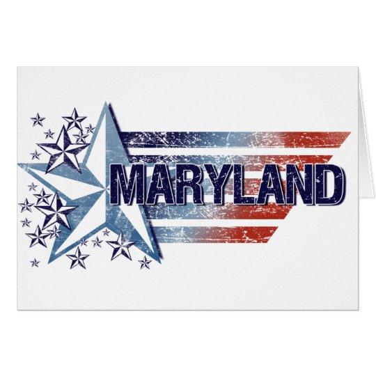 Vintage USA Flag with Star – Maryland Card