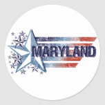 Vintage USA Flag with Star – Maryland Stickers