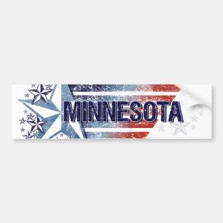 Vintage USA Flag with Star – Minnesota Bumper Sticker