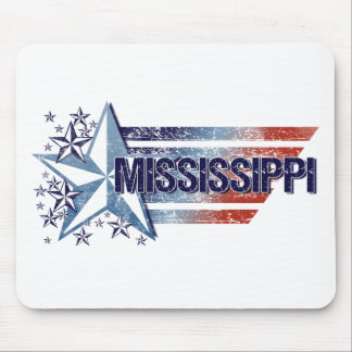 Vintage USA Flag with Star – Mississippi Mouse Pad