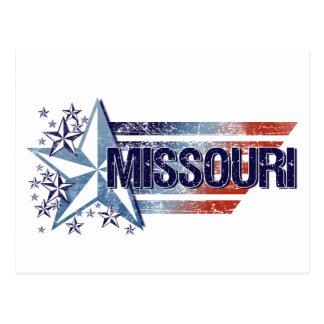 Vintage USA Flag with Star – Missouri Postcard