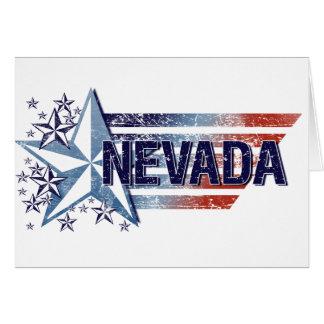 Vintage USA Flag with Star – Nevada Card