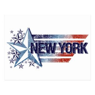 Vintage USA Flag with Star – New York Postcard