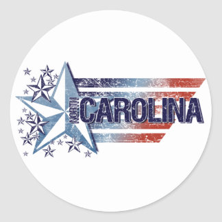 Vintage USA Flag with Star – North Carolina Sticker
